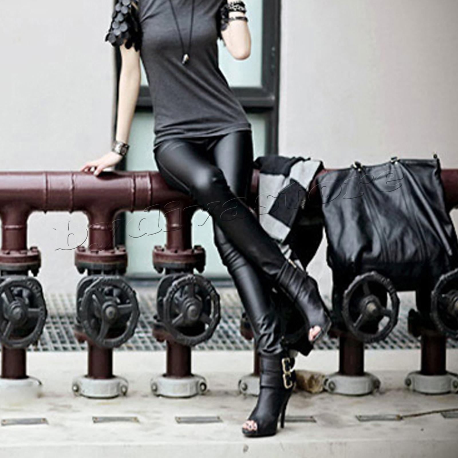 sexy leggings hose r hre leder look glanz stoff leggins. Black Bedroom Furniture Sets. Home Design Ideas